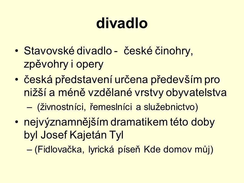 divadlo Stavovské divadlo - české činohry, zpěvohry i opery