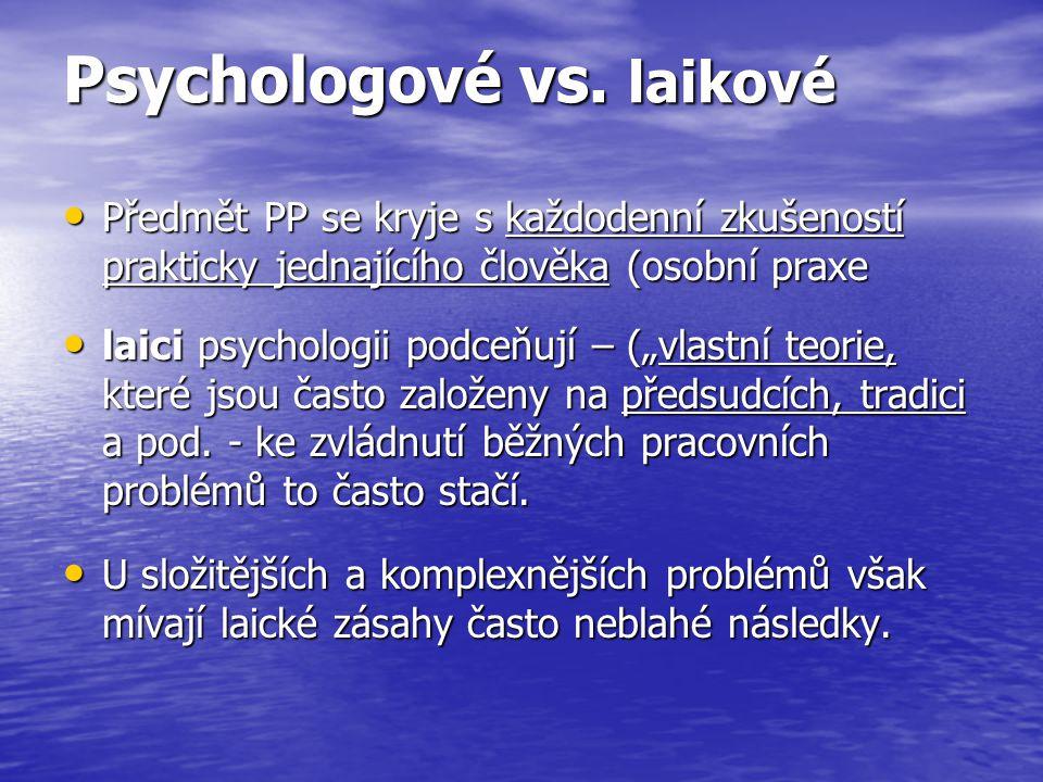 Psychologové vs. laikové
