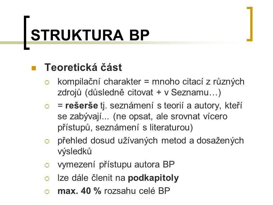 STRUKTURA BP Teoretická část