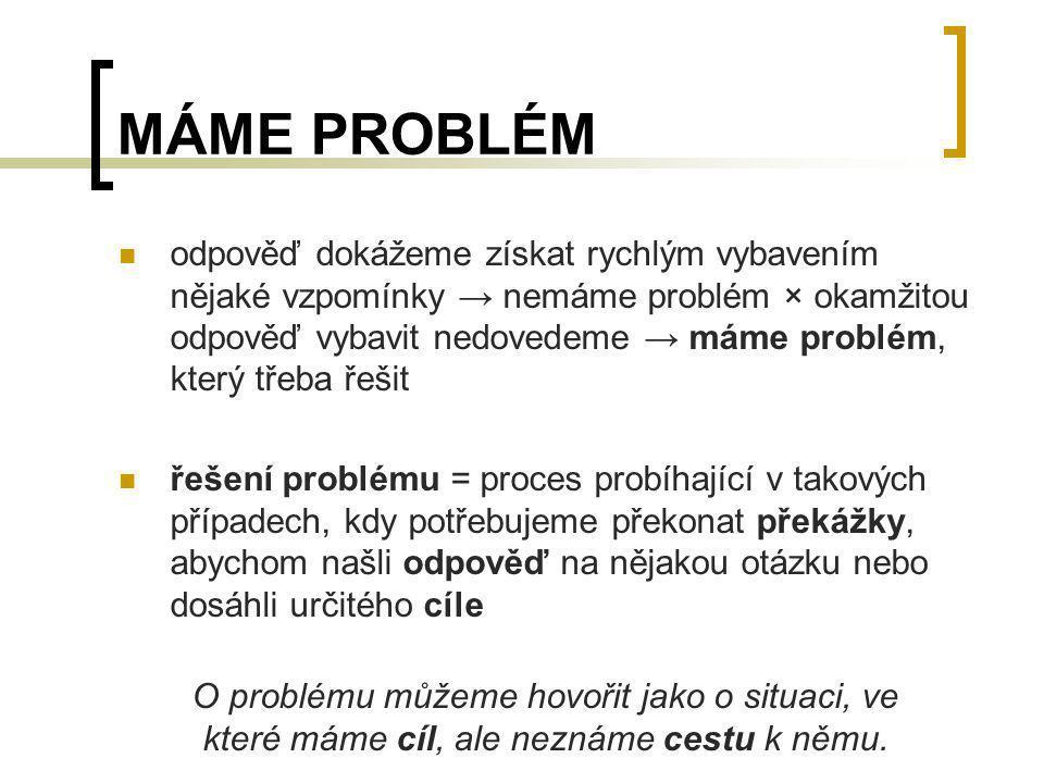 MÁME PROBLÉM
