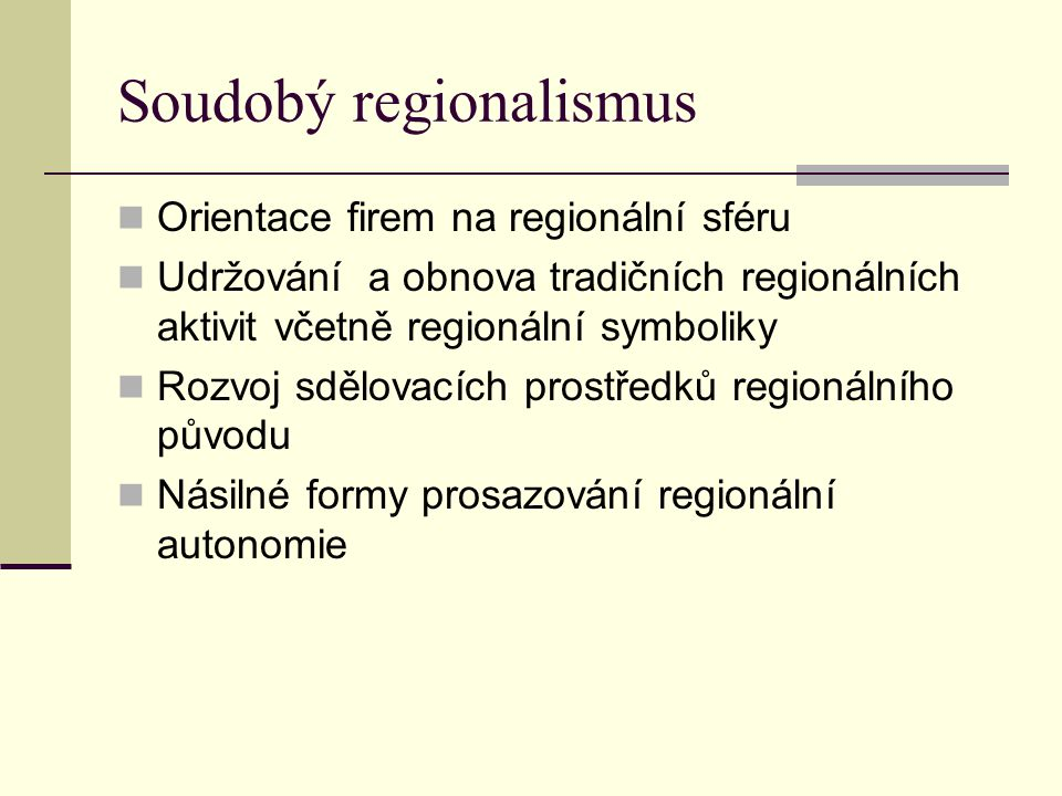 Soudobý regionalismus