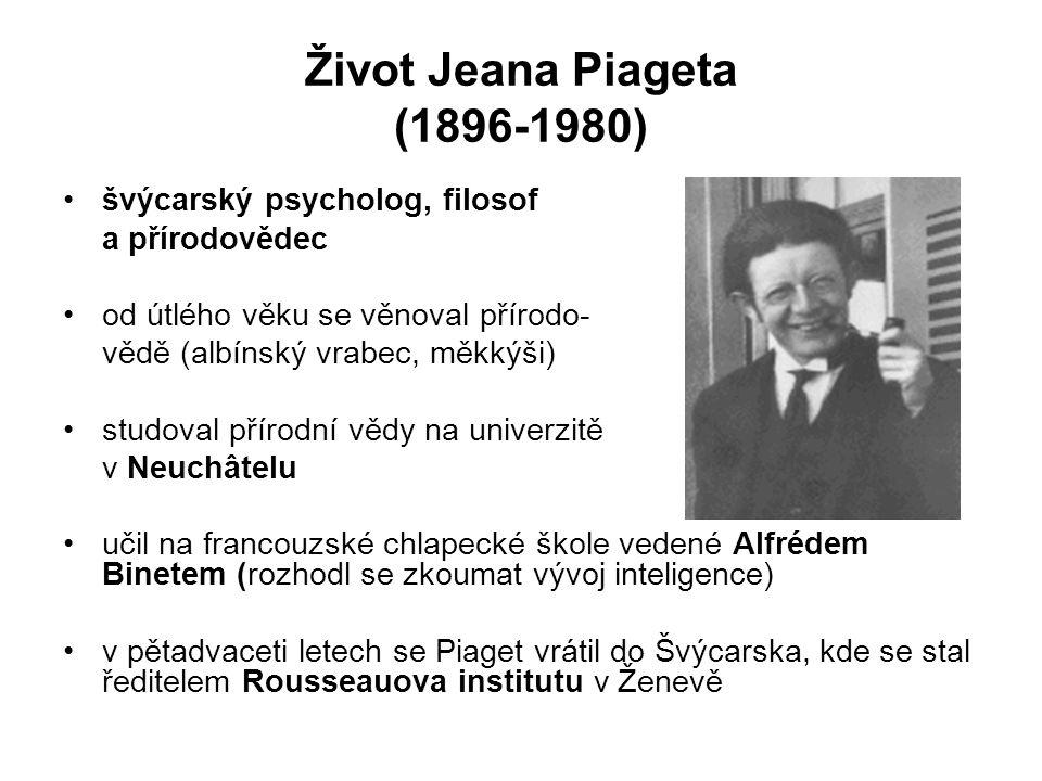 Život Jeana Piageta (1896-1980)