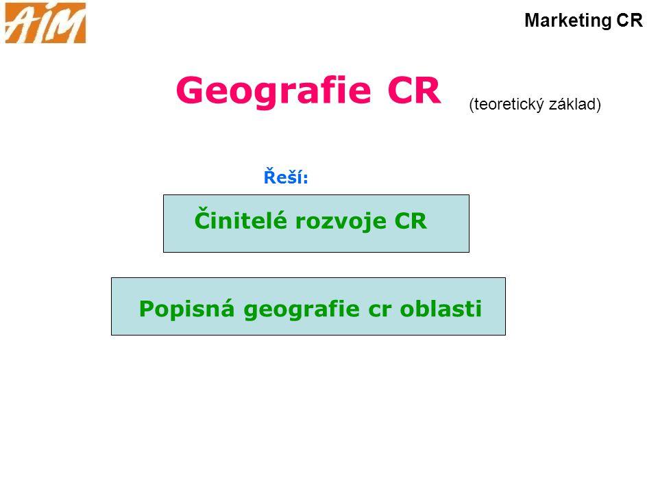Popisná geografie cr oblasti