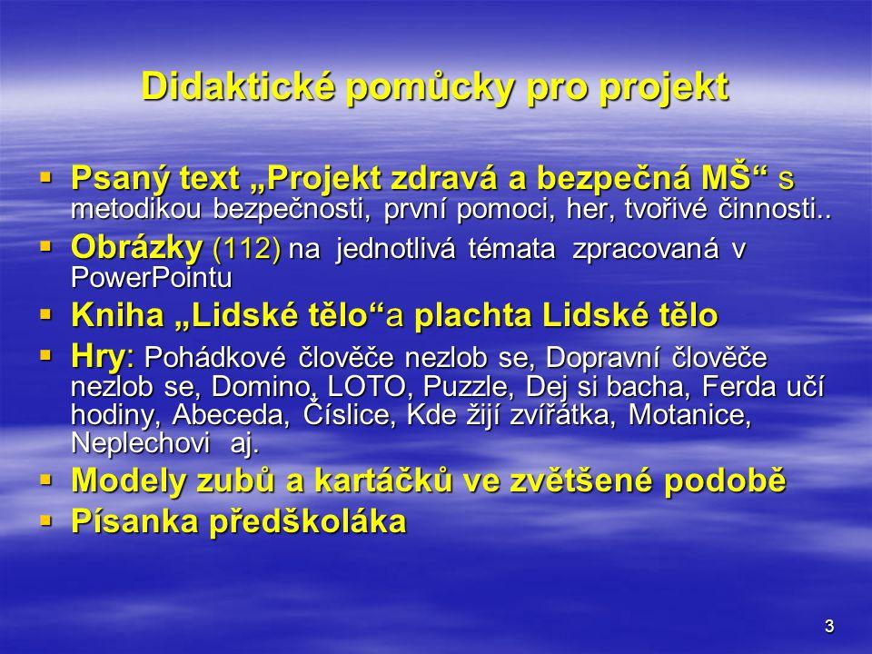 Didaktické pomůcky pro projekt