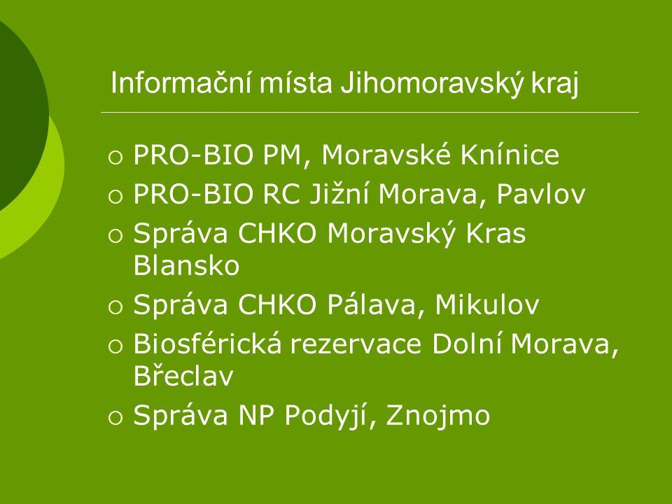 Informační místa Jihomoravský kraj