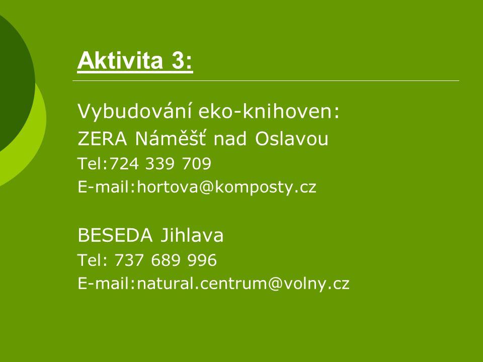 Aktivita 3: Vybudování eko-knihoven: ZERA Náměšť nad Oslavou