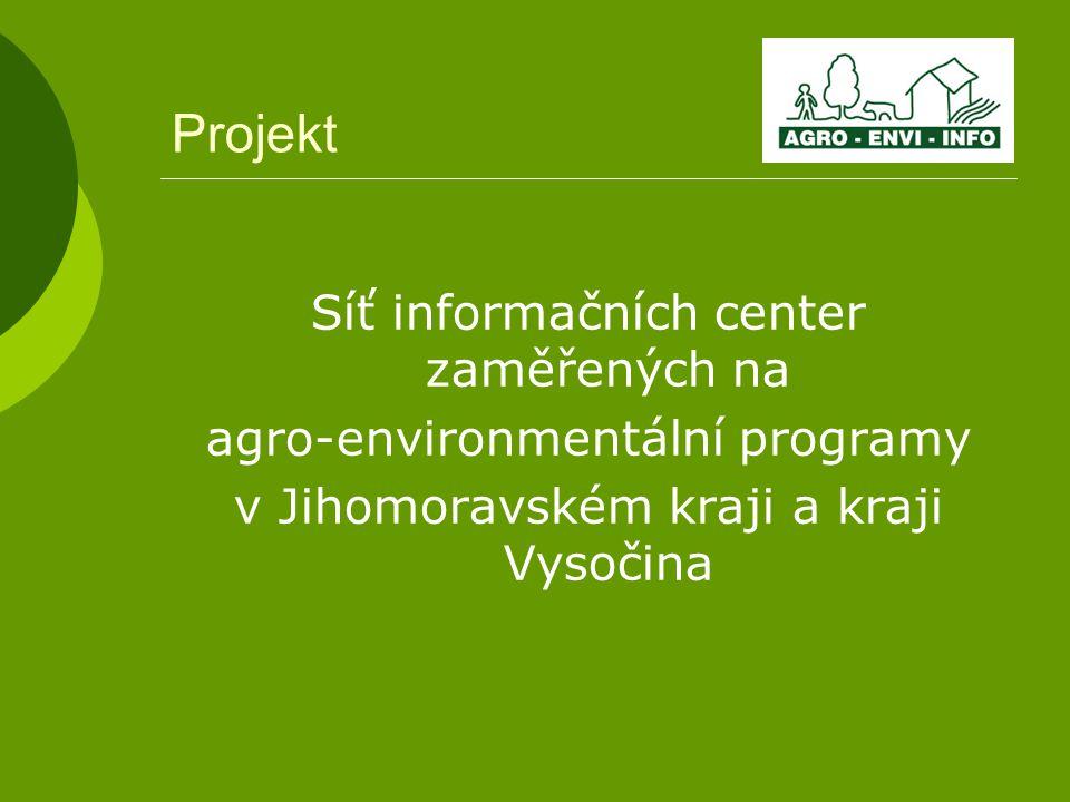 Projekt Síť informačních center zaměřených na