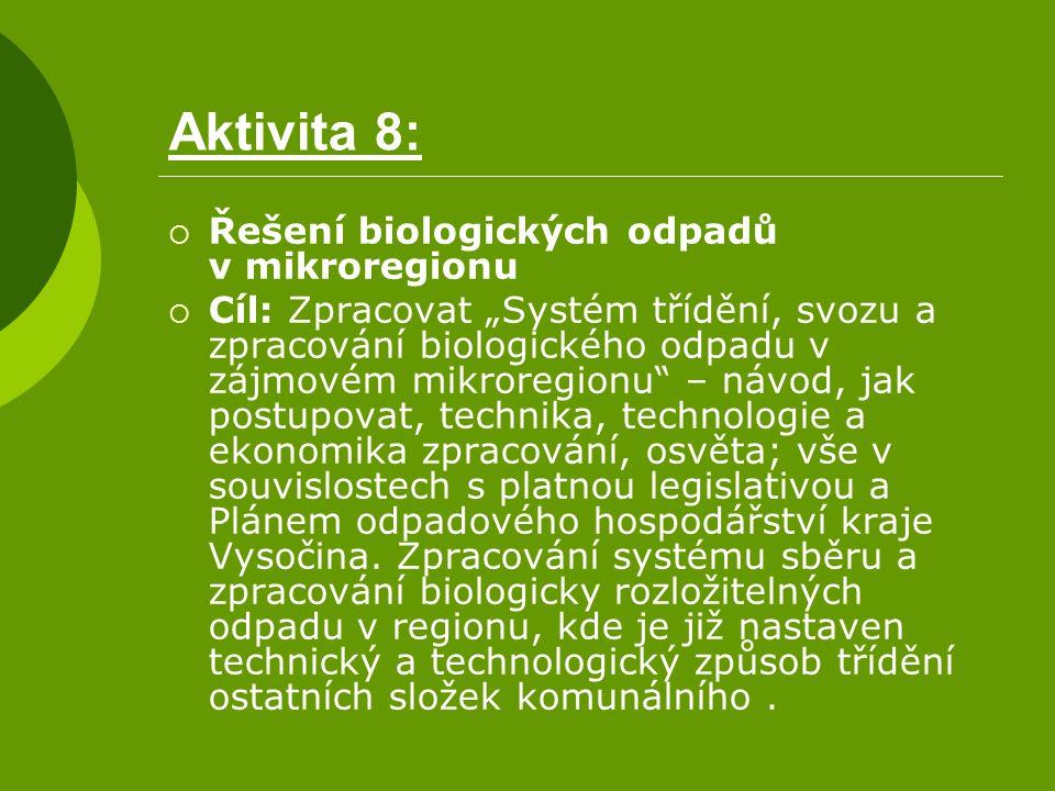 Aktivita 8: Řešení biologických odpadů v mikroregionu