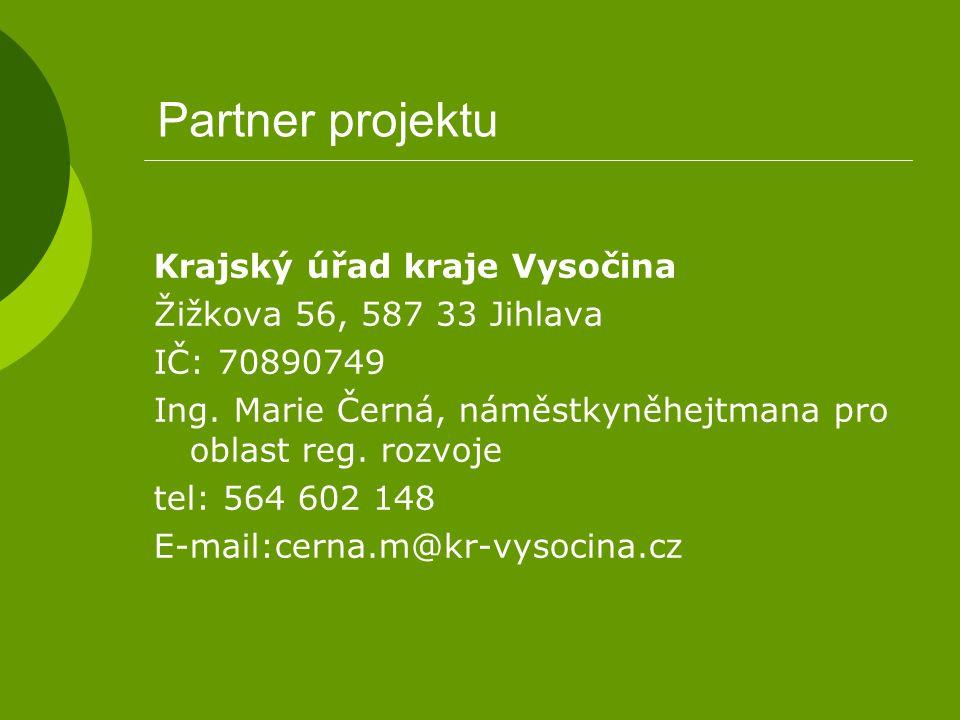 Partner projektu Krajský úřad kraje Vysočina