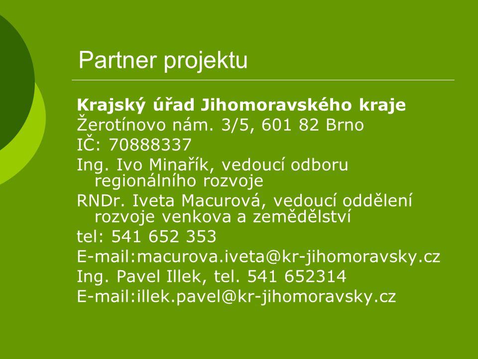 Partner projektu Krajský úřad Jihomoravského kraje