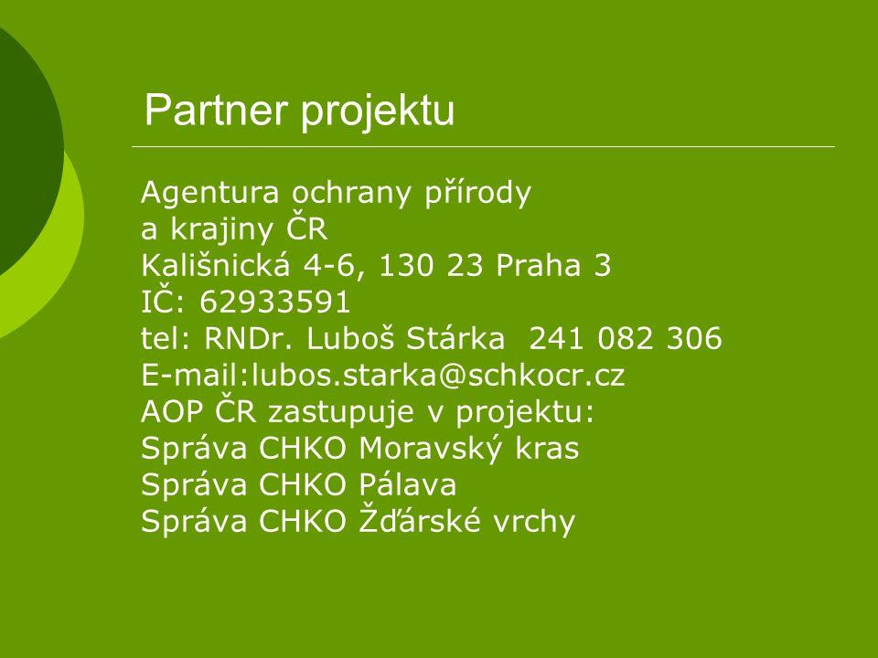 Partner projektu Agentura ochrany přírody a krajiny ČR