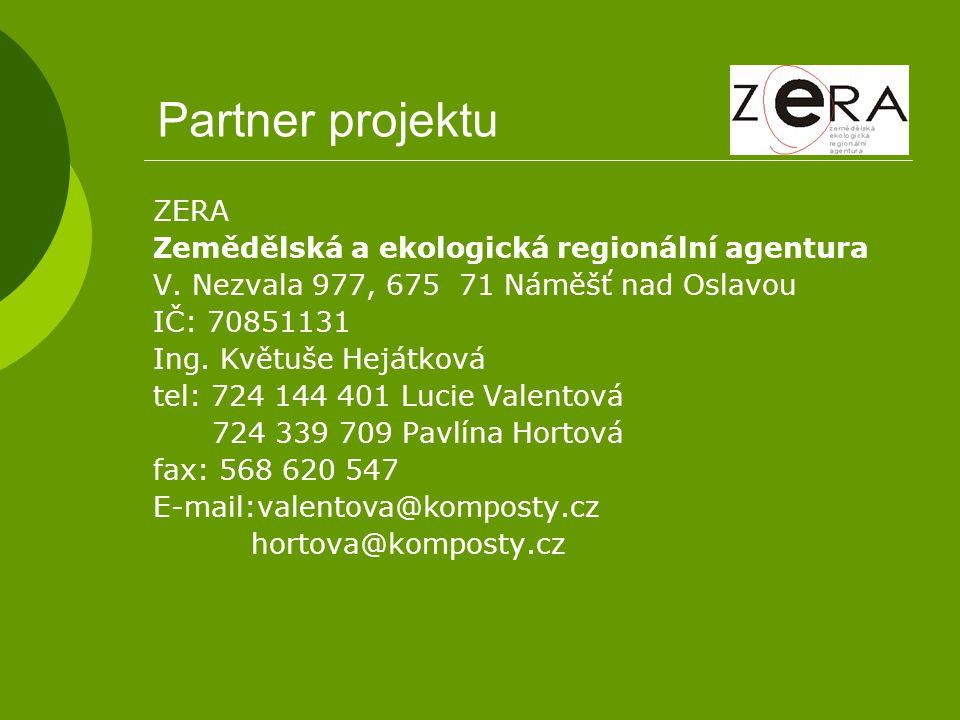 Partner projektu ZERA Zemědělská a ekologická regionální agentura