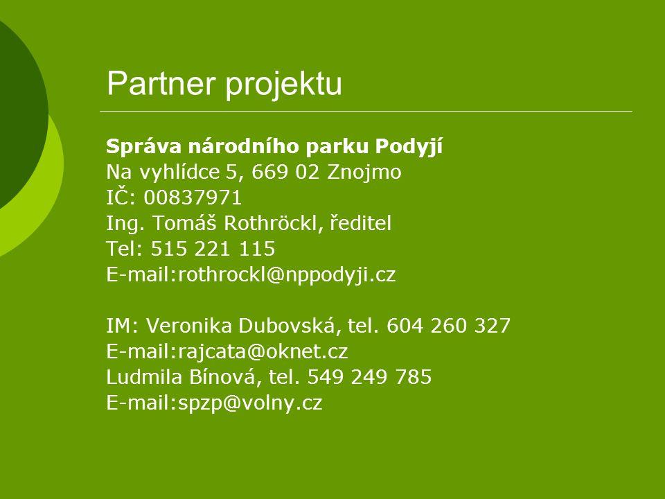 Partner projektu Správa národního parku Podyjí