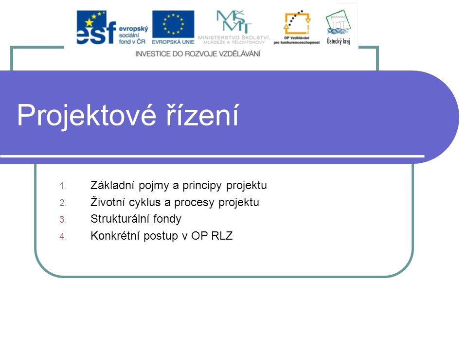 Projektové řízení Základní pojmy a principy projektu