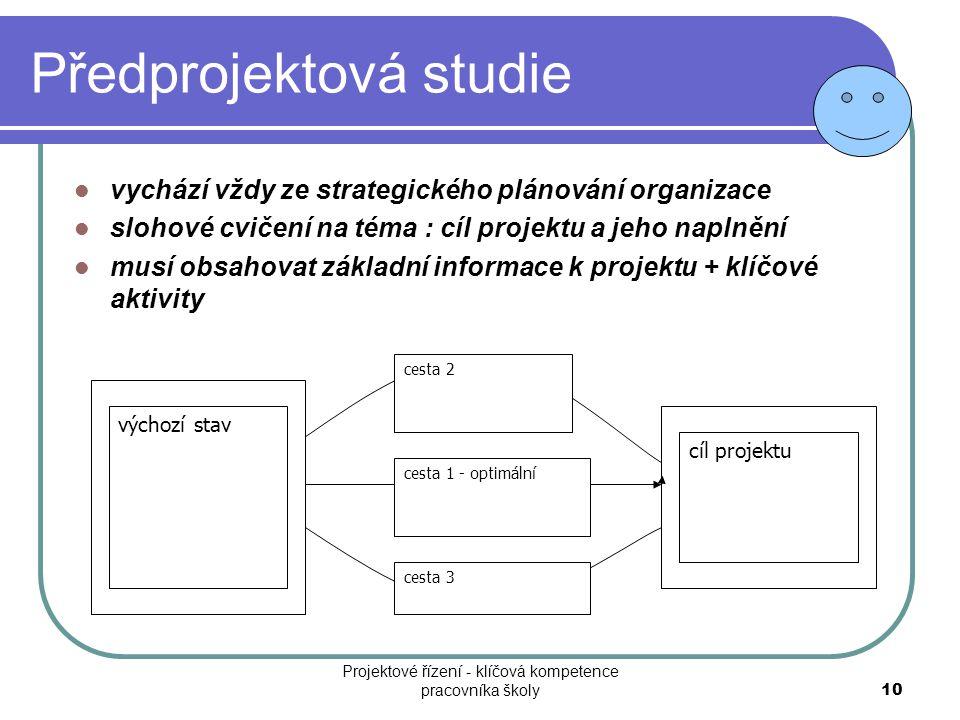 Předprojektová studie