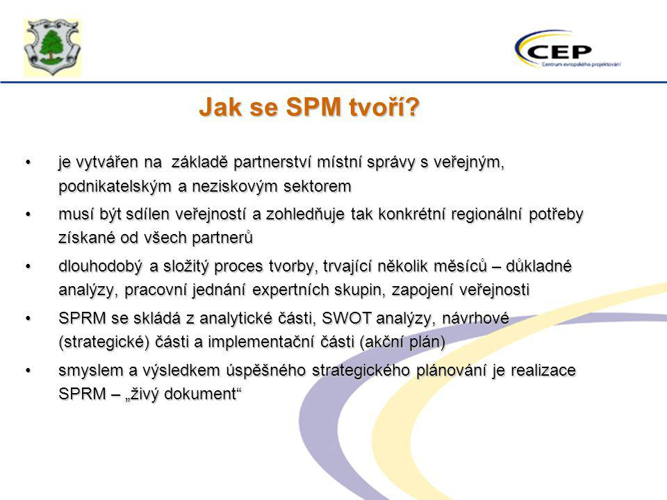 Jak se SPM tvoří je vytvářen na základě partnerství místní správy s veřejným, podnikatelským a neziskovým sektorem.