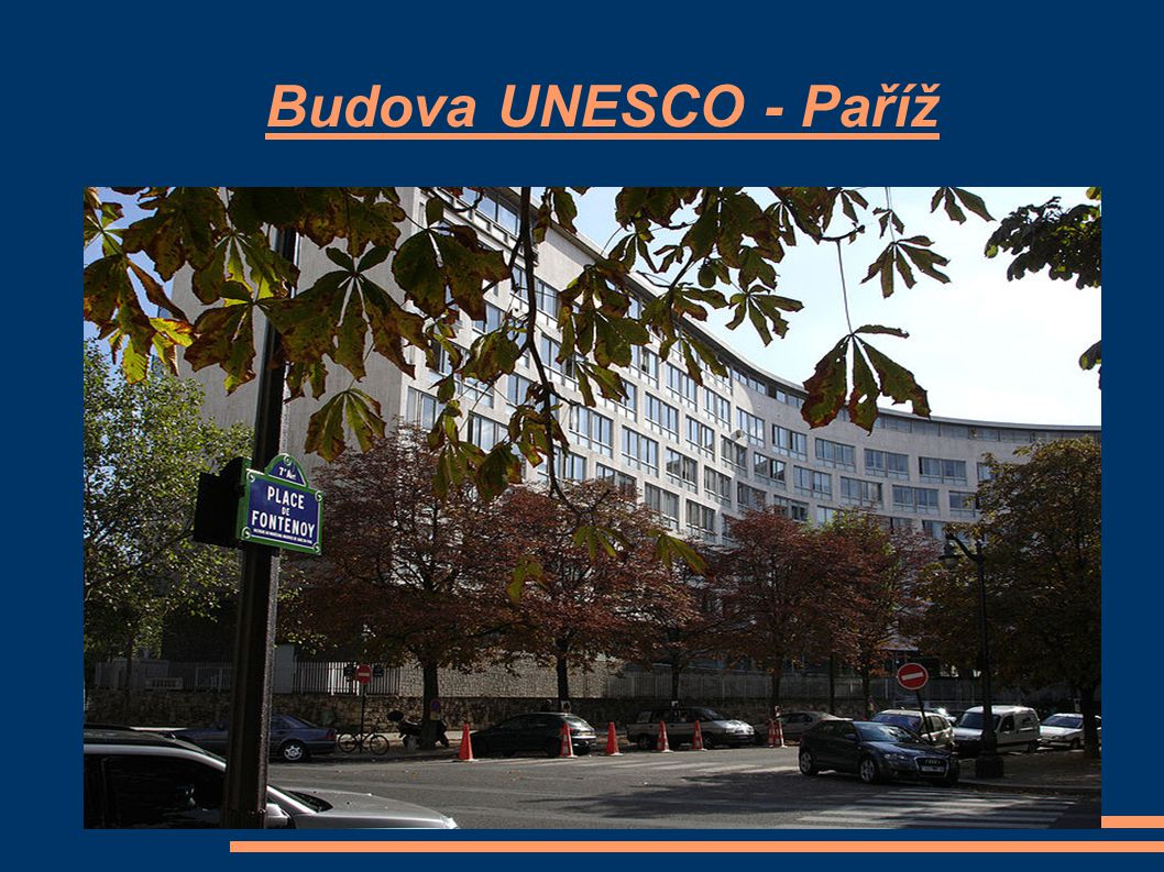 Budova UNESCO - Paříž