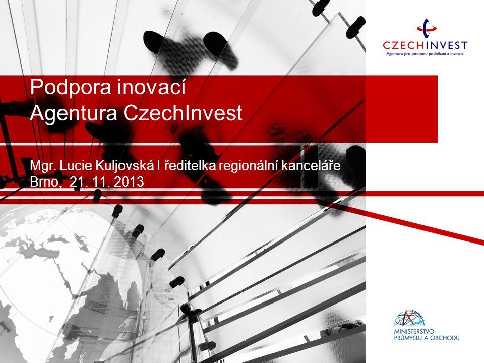Podpora inovací Agentura CzechInvest Mgr