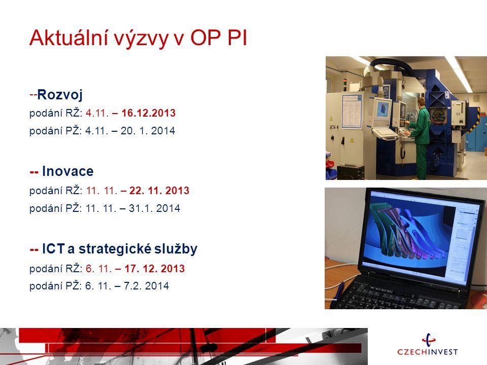 Aktuální výzvy v OP PI Rozvoj -- Inovace -- ICT a strategické služby