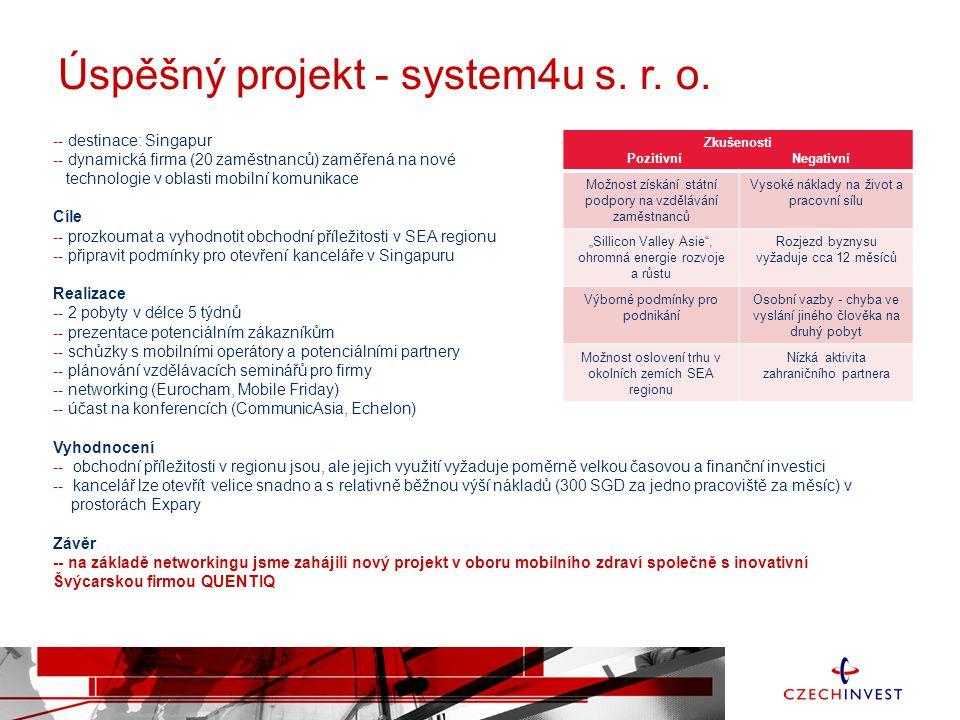 Úspěšný projekt - system4u s. r. o.