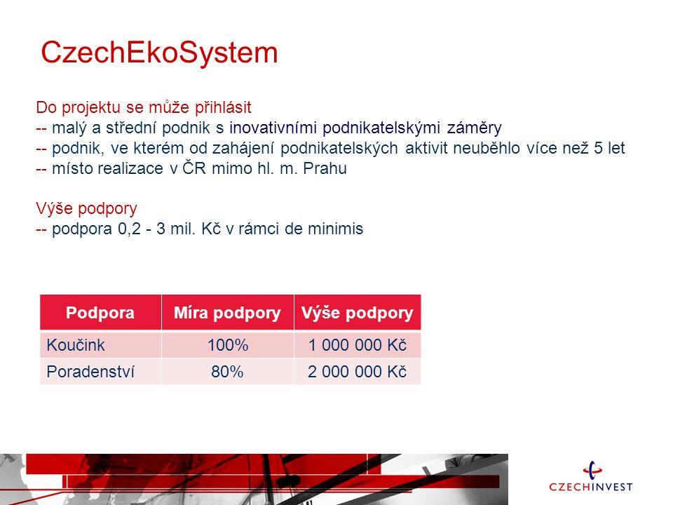 CzechEkoSystem Do projektu se může přihlásit