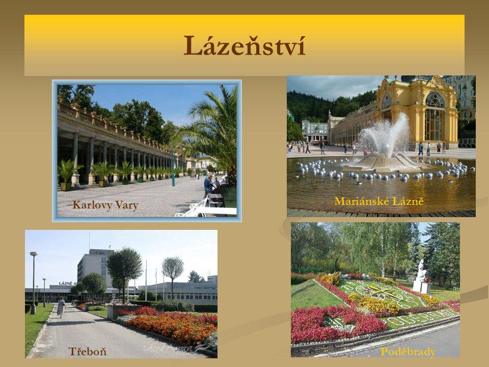 Lázeňství Mariánské Lázně Karlovy Vary Třeboň Poděbrady