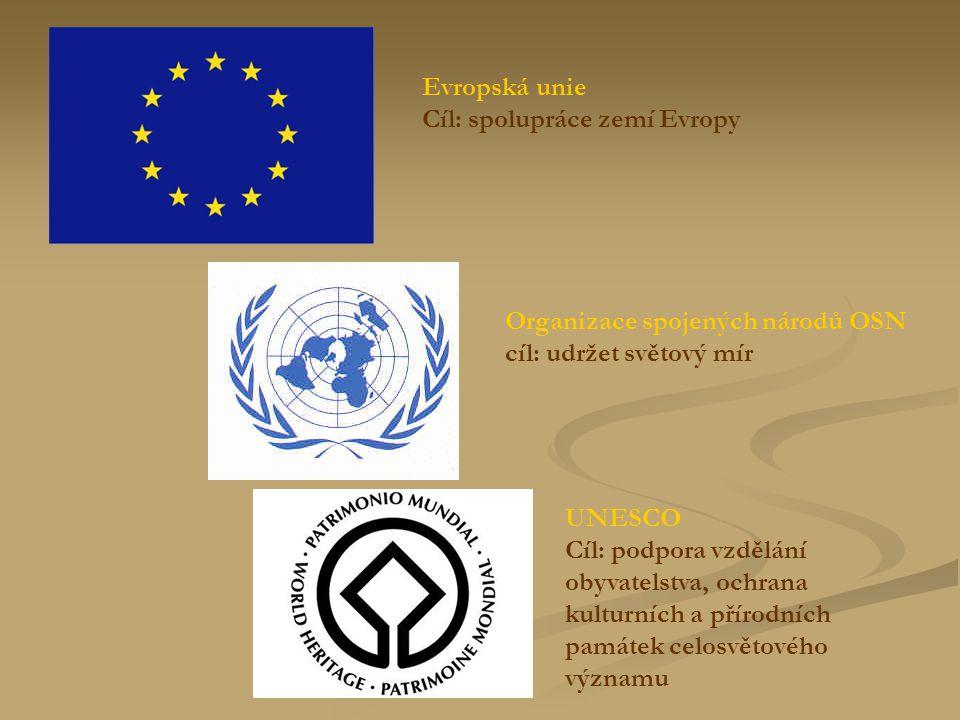 Evropská unie Cíl: spolupráce zemí Evropy