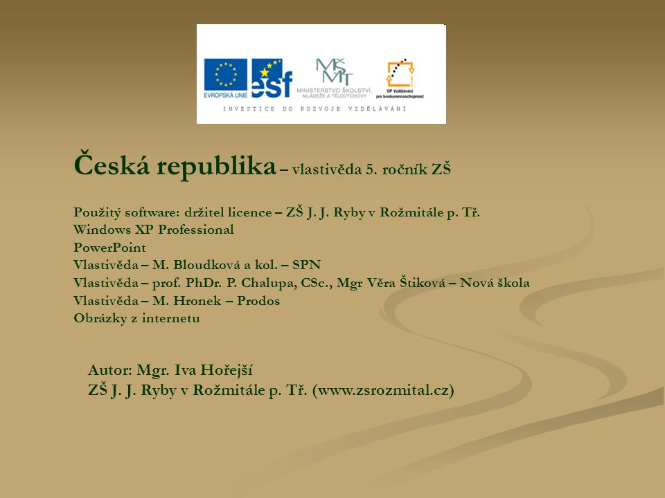Česká republika – vlastivěda 5