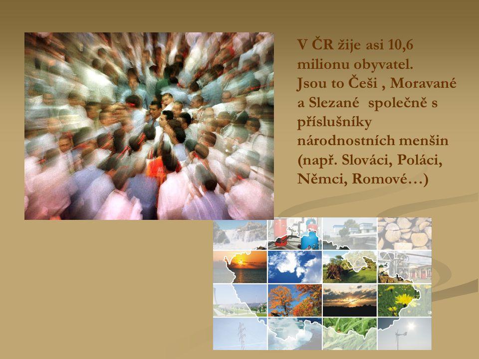 V ČR žije asi 10,6 milionu obyvatel