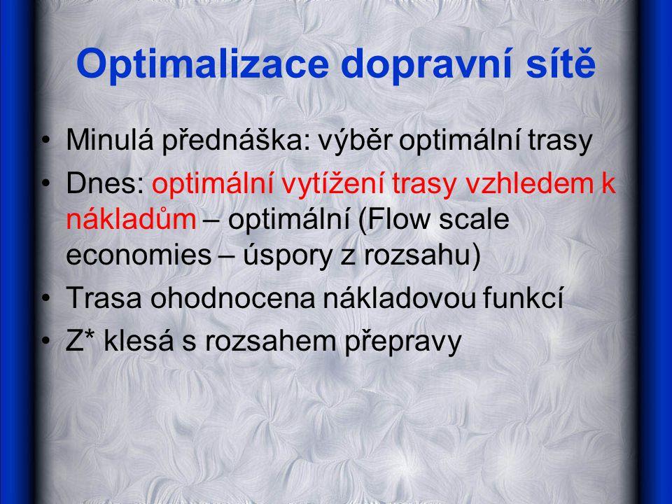 Optimalizace dopravní sítě