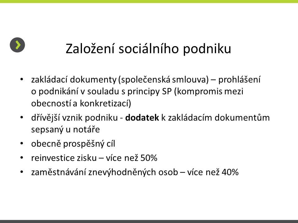 Založení sociálního podniku