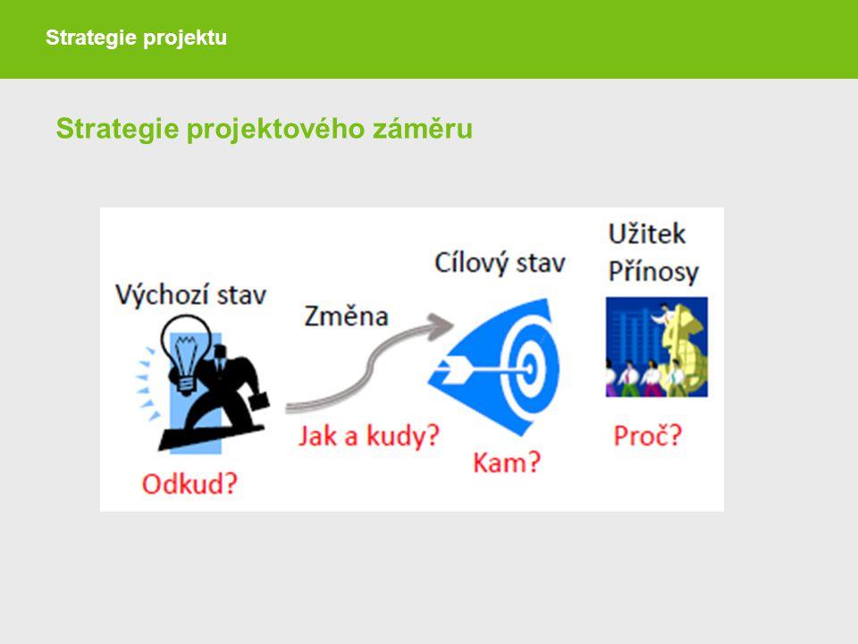 Strategie projektového záměru
