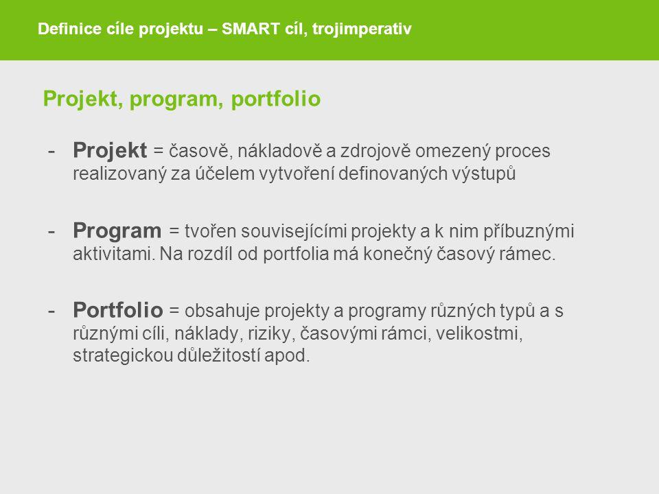 Projekt, program, portfolio