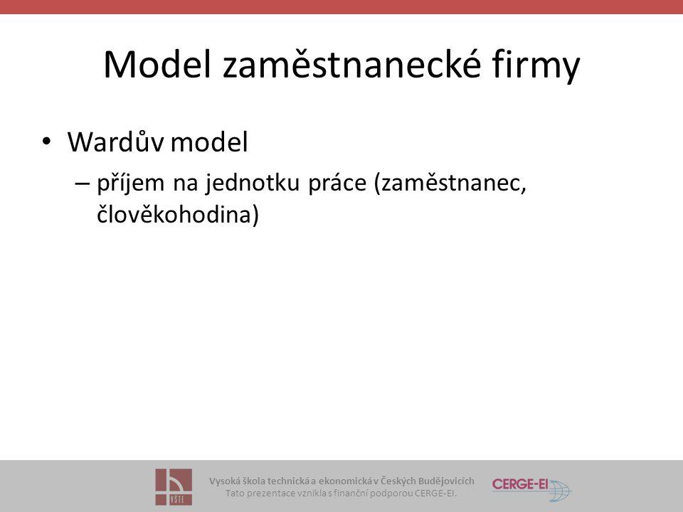 Model zaměstnanecké firmy