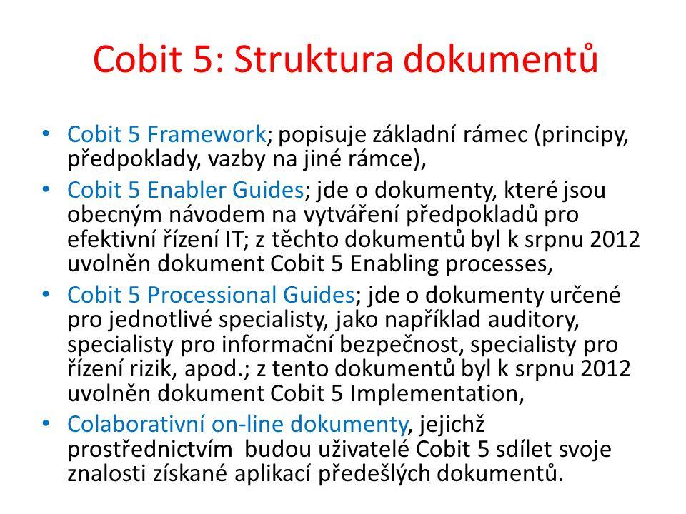 Cobit 5: Struktura dokumentů