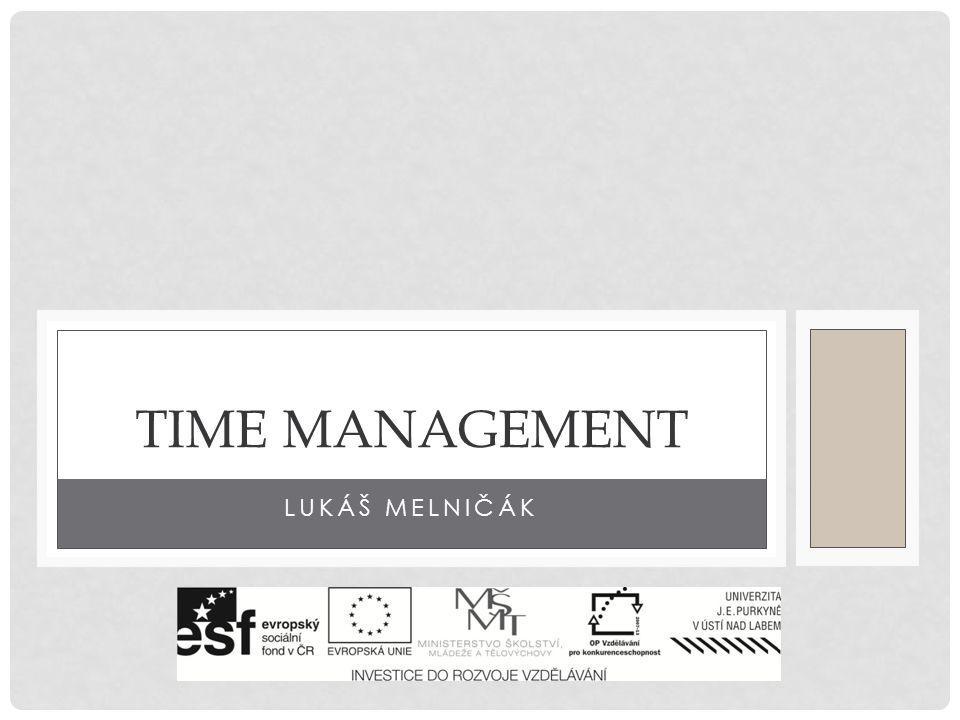 Time management Lukáš melničák