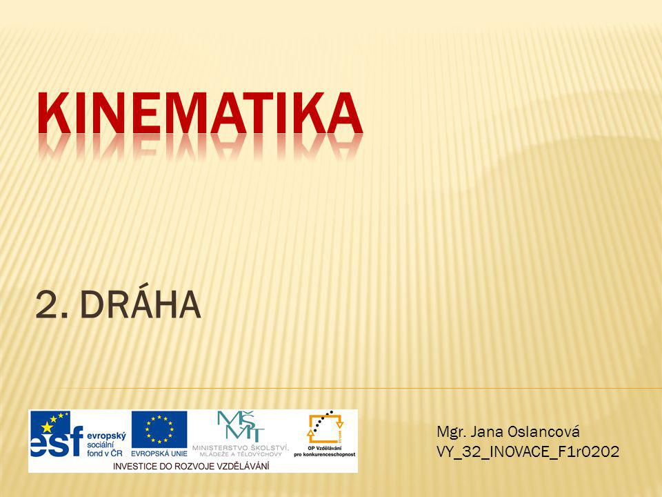 Kinematika 2. DRÁHA Mgr. Jana Oslancová VY_32_INOVACE_F1r0202