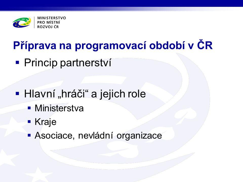 Příprava na programovací období v ČR