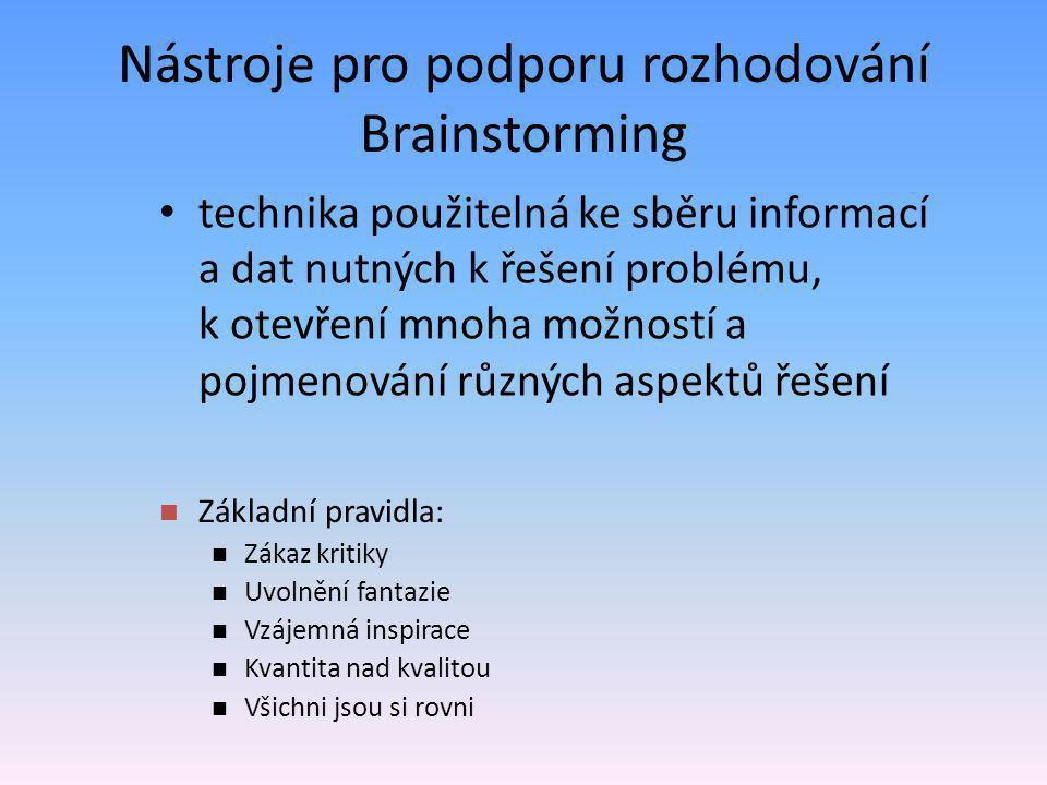 Nástroje pro podporu rozhodování Brainstorming