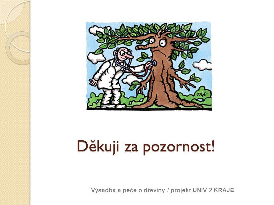 Děkuji za pozornost! Výsadba a péče o dřeviny / projekt UNIV 2 KRAJE