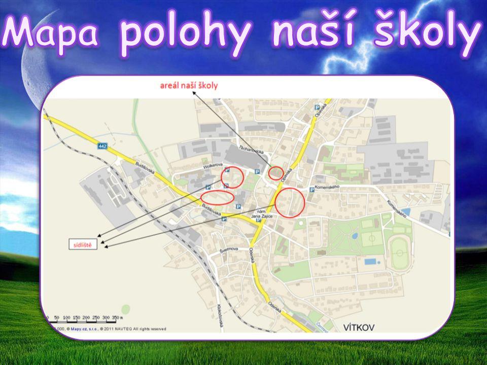Mapa polohy naší školy