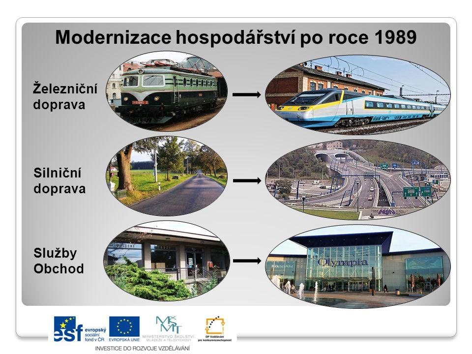 Modernizace hospodářství po roce 1989