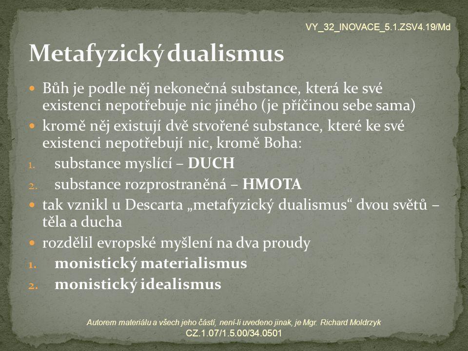 Metafyzický dualismus