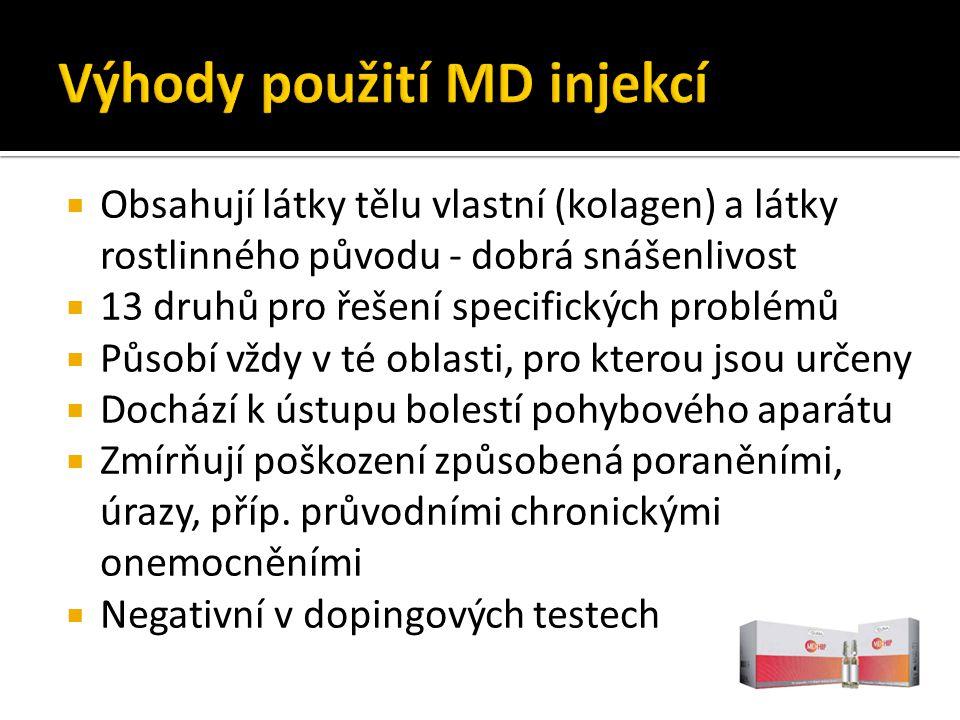 Výhody použití MD injekcí