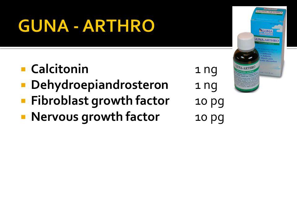 GUNA - ARTHRO Calcitonin 1 ng Dehydroepiandrosteron 1 ng