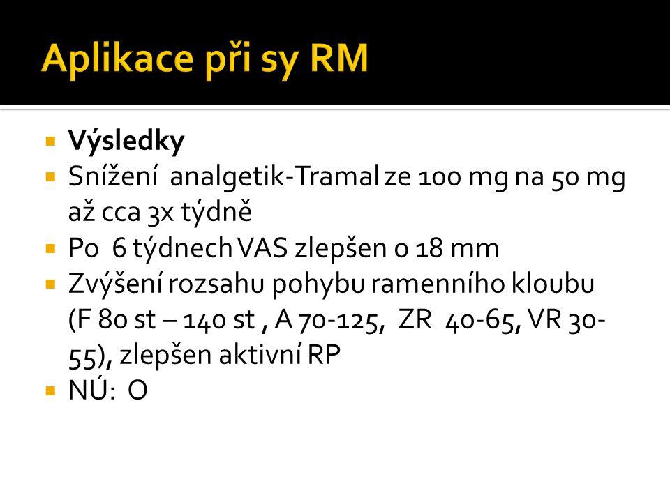 Aplikace při sy RM Výsledky