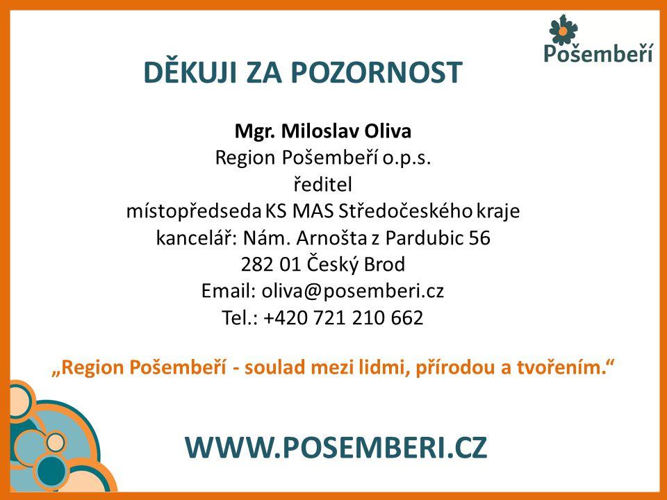 DĚKUJI ZA POZORNOST WWW.POSEMBERI.CZ Mgr. Miloslav Oliva
