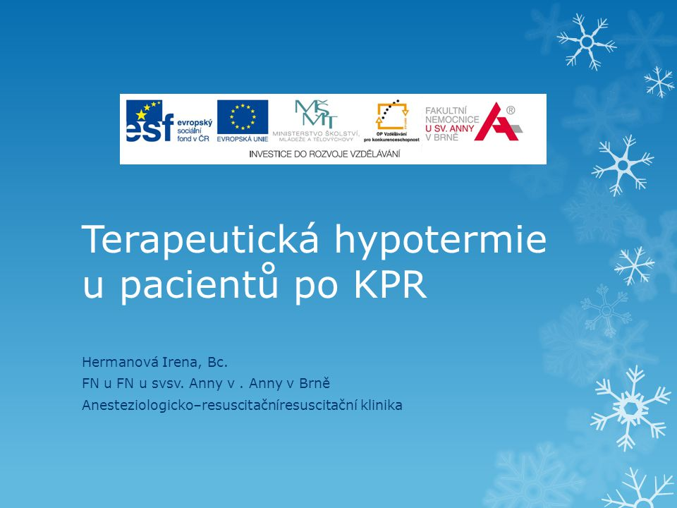 Terapeutická hypotermie u pacientů po KPR