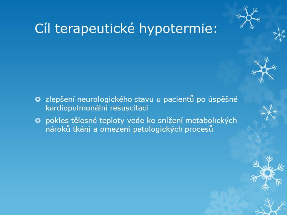 Cíl terapeutické hypotermie: