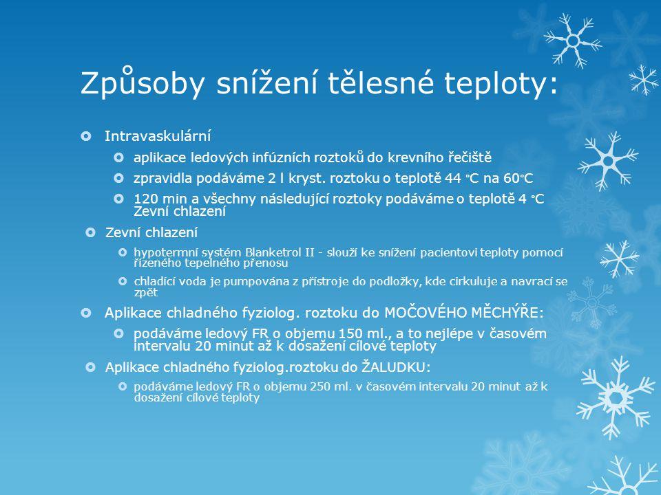 Způsoby snížení tělesné teploty: